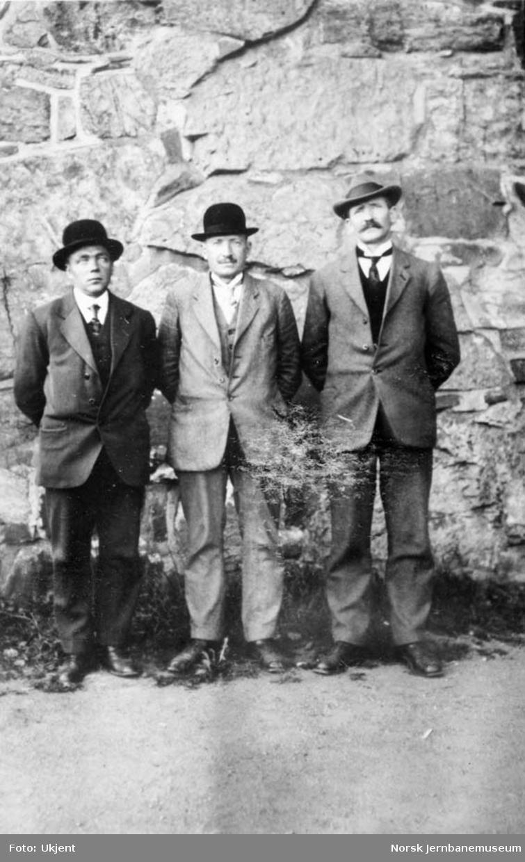 Tre finsekarer : Erik Toppol, Lars Nordby og Eirik Almendingen