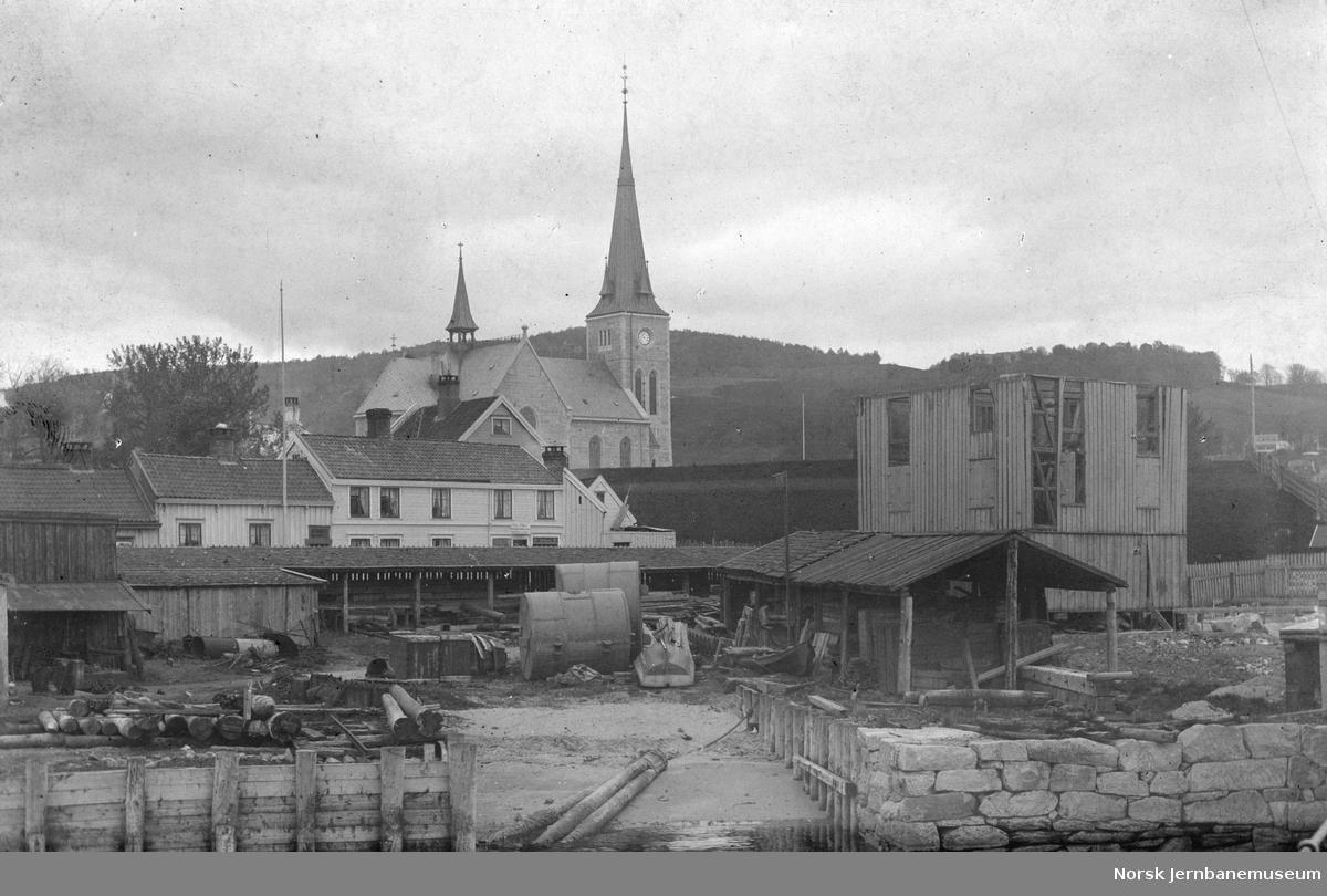 Utsikt fra jernbanen ved Skansen