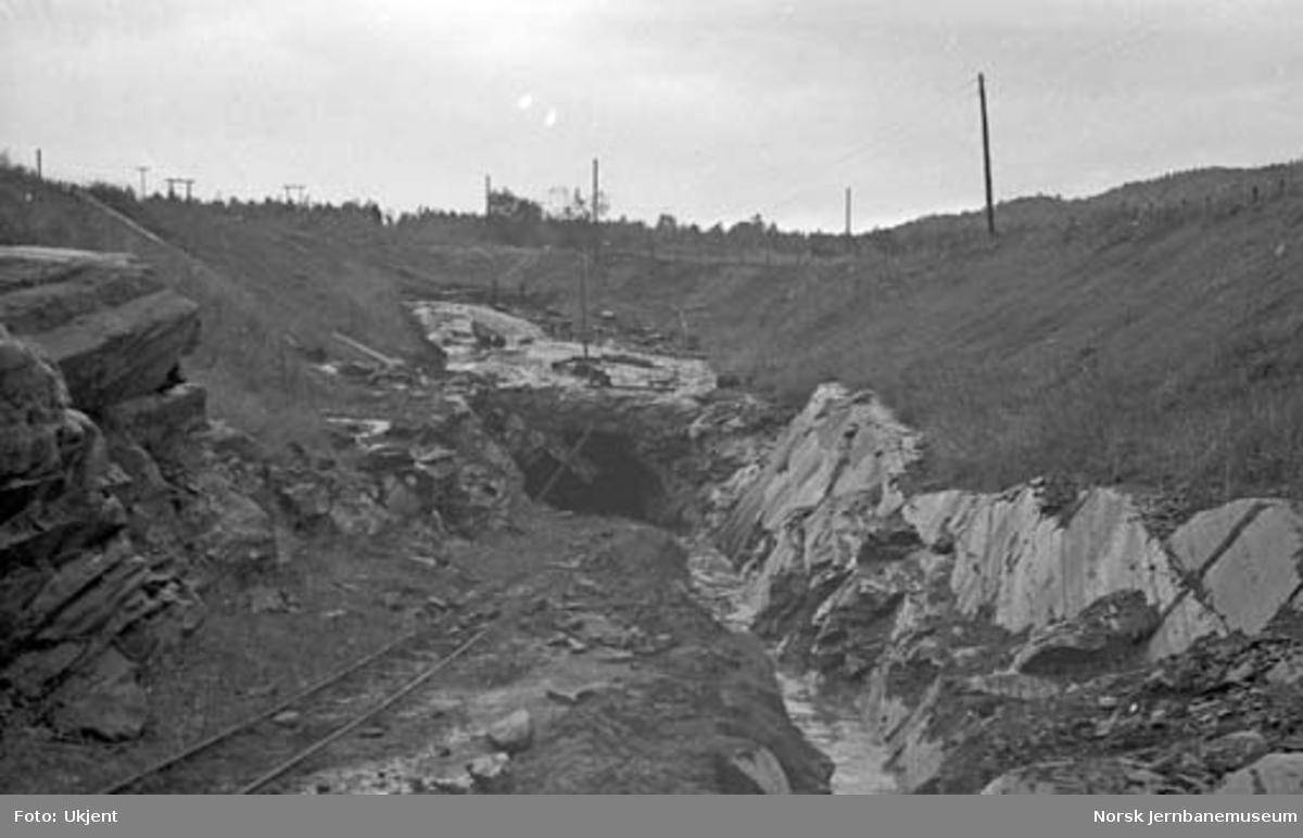 Nordlandsbaneanlegget : søndre forskjæring til Bratthaugen tunnel
