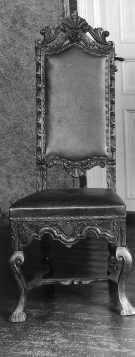 Règence, ca. 1720-1740. Hel rygg, Stol